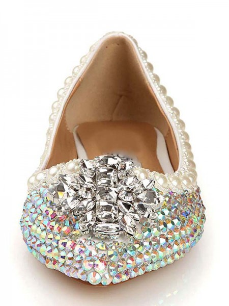 Patent Leder Diamant Pointed Toe Flats